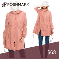 🔥1 HR SALE🔥Rose Pink Bomber Trench Hooded Jacket Available. Brand new. Avail Sizes listed below cierramotley Jackets & Coats Trench Coats