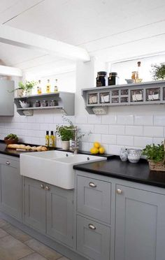 Kitchen Ideas For Kitchen Grey Cupboards Black Worktop How An Adopted Person Can Find Their Birt Grey Shaker Kitchen, Shaker Style Kitchen Cabinets, Shaker Style Kitchens, Kitchen Cabinet Styles, Grey Kitchens, Kitchen Black, Kitchen Small, Grey Kitchen Interior, Kitchen Yellow