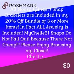 Noosa (Ginger) Snap Bracelets❣Many Kickin Styles❣ Noosa ( Ginger Snap Bracelets in Almost Every Style❣ Something for Every Kind Of Girl, Woman, Chick, Gal, Cowgirl, Peep and Friend❣I Hope You Find something That Makes You Happy❣ Making Others Happy Makes Me Happy❣... MyCheLLe ... MyCheLLe21 Jewelry Bracelets