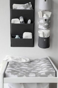 The Only Girl in the House Internet-Tagebuch gives great interiors inspiration for grey nursery, gray nursery, baby room, baby bedroom, kids bedroom. grey changing table with Farg Form scandi change mat.