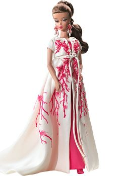 Palm Beach #Coral #Silkstone #Barbie doll epitomizes the sophistication of the jet setting social set.