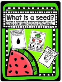 Writer's Workshop Seed Mini UNIT Watermelon Theme by The Classroom Chick Watermelon Seed Writing, Teaching Writing, Teaching Resources, To Have In Spanish, What Is A Seed, Small Moment Writing, Classroom Inspiration, Classroom Ideas, 2nd Grade Writing