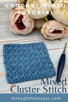 Follow along the step-by-step video tutorial to easily learn how to make the Mixed Cluster Crochet Stitch. A perfect stitch for your next project! Different Crochet Stitches, Tunisian Crochet Stitches, Crochet Stitches Patterns, Stitch Patterns, Crochet Tutorials, Crochet Videos, Crochet Projects, All Free Crochet, Learn To Crochet