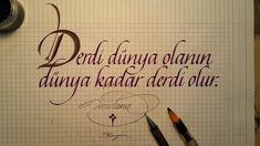 kaligrafi-ornekleri-2 Caligraphy, Calligraphy Art, Typography, Lettering, Allah Islam, In My Feelings, Layout Design, Quotations, Graffiti