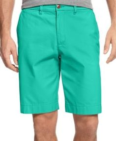 "Tommy Hilfiger Men's 9"" Classic-Fit Chino Shorts - Blue 40W"