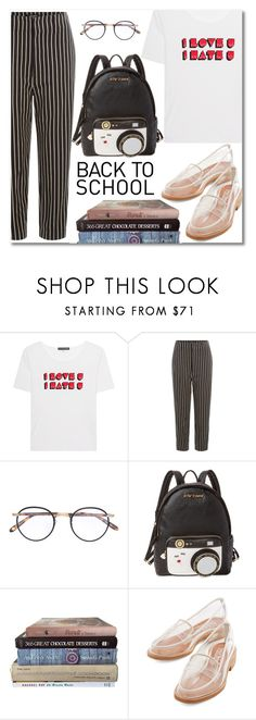 """""""Back To School"""" by alexa-girl2 ❤ liked on Polyvore featuring AlexaChung, Isabel Marant, Garrett Leight, Betsey Johnson, Jeffrey Campbell, BackToSchool, fasion and polyvorecontest"""