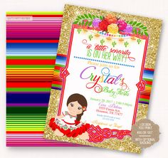 A personal favorite from my Etsy shop https://www.etsy.com/listing/497491229/printable-fiesta-baby-shower-fiesta