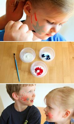 Homemade Face Paints for the 4th of July Fourth of July Food, Crafts, and Activities