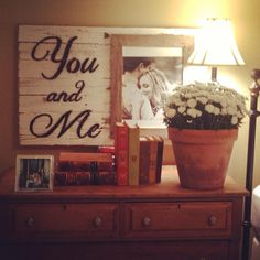 Custom Barnwood Frames You and Me Sign Wedding  by CustomFraming, $49.00.  So cute!