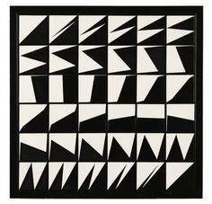 Marcello Morandini - 119 , painted panel, 56x56x4 cm, executed in 1971