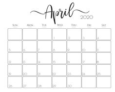 With the help of a Floral April Calendar 2020 Cute Wallpaper Template, you can plan better for all your important tasks. Get April 2020 Calendar Printable With Notes. April Calender, April Calendar Printable, Study Calendar, Free Printable Calendar Templates, Make A Calendar, Printable Calendar 2020, Cute Calendar, Planning Calendar, Monthly Calendar Template