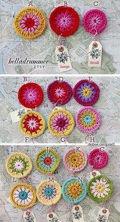 pretty crochet circles