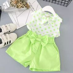 Cheap children's wear, Buy Quality female child directly from China summer suit Suppliers: Red white butterfly baby clothes 2017 female children's wear chiffon breathable suits summer leisure sleeveless shorts two-piece Kids Outfits Girls, Little Girl Dresses, Toddler Outfits, Girl Outfits, Baby Dress Design, Girl Dress Patterns, Kids Frocks, Baby Kind, Cute Baby Clothes
