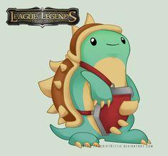 League of Legends: Baby Rammus by =scriptKittie on deviantART