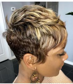 Short Sassy Hair, Short Hair Cuts, Short Hair Styles, Dope Hairstyles, Cute Hairstyles For Short Hair, Relaxed Hair, Hair Today, Gorgeous Hair, Hair Inspiration
