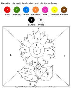 Color by Letter Worksheet 2