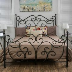 Shabby Chic Bedroom Furniture, Bed Furniture, Rustic Furniture, Bedroom Decor, Chic Bedding, Antique Furniture, Bedding Sets, Gray Bedding, Unique Bedding