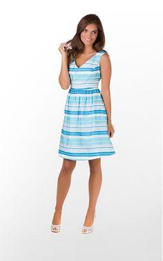 Lilly Pulitzer (Kiera, Turquoise Wrapping Stripe)