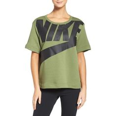 3bb272d46e315b Women s Nike Sportswear Irreverent Graphic Tee ( 70) ❤ liked on Polyvore  featuring tops