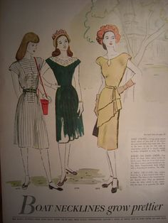 1947 MCCALLS FASHION PATTERNS /1940s by VintagePaperGallery