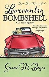 Lowcountry Bombshell  By Susan M Boyer  We received a review copy of Lowcountry Bombshell for the purpose of writing this review.  Lowcountry Bombshell by Susan M. Boyer is part of the continuing Liz Talbot Mysteries. Liz is still on the island and cracking cases. We did not like Lowcountry Bombshell as much as we liked the first book Lowcountry Boil.   In the first book we had implied sensuality and some profanity but nothing really egregious. In Lowcountry Bombshell it was less discrete…