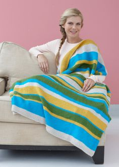 I am thinking this might be a good beginners knitted Afghan, Not crazy about the colors.