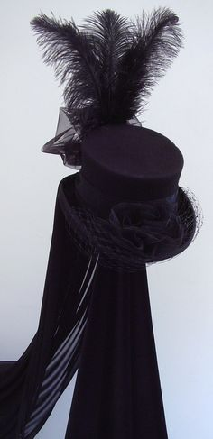 Neo Victorian riding hat The Lady Merrydeath by Blackpin on Etsy, £95.00