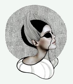 Geraldine Georges is a young Belgian illustrator and graphic designer that uses a wonderfully sophisticated blend of illustration and photography in h. Illustrations, Illustration Art, Creative Photography, Art Photography, Photocollage, Woman Painting, Figure Drawing, Oeuvre D'art, Les Oeuvres