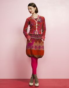 Oilily cardigan and skirt