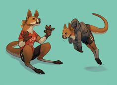 I, like you and everyone else, watched zootopia and turned into a huge furry so heres that, kangaroos seem pretty chill Furry Wolf, Furry Art, Kangaroo Tattoo, Game Character Design, Character Art, Drawing Simple, Anthro Furry, Cute Animal Drawings, Drawing Poses
