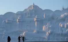 Giant Sculpture of Harbin Ice and Snow Festival 2015 (Heilongjiang Province in China)