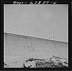 Galveston, Texas. Three sailors walking along the seawall. Vachon, John, 1914-1975, photographer.    CREATED/PUBLISHED  1943 May. Galveston Texas, Library Of Congress, Sailors, Walking, History, American, Photos, Outdoor, Outdoors