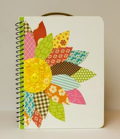 A zany mother of eight who lives a creative life including paper crafts, quilting, cooking and photography. Diy Notebook, Decorate Notebook, Notebook Covers, Journal Covers, Scrapbook Cover, Scrapbook Albums, Scrapbook Cards, Diy And Crafts, Arts And Crafts