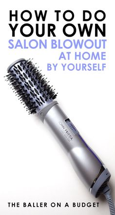 This blowout brush makes it possible to get a salon blow-out at home, no hairdresser necessary. The best part: it's only $29.99! – www.theballeronabudget.com
