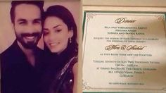 Wedding Invitation Card of Shahid Kapoor And Mira Rajput Wedding News, Wedding Events, Wedding Invitation Cards, Wedding Cards, Mira Rajput, Shahid Kapoor, Tie The Knots, Dating, Movies