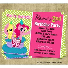 Wording For My Little Pony Birthday Invitation Free Printable Invitations Templates Printables