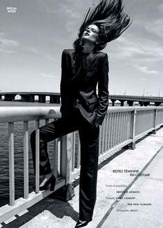 Kasia Struss in Saint Laurent by Nagi Sakai for Elle France August 2014