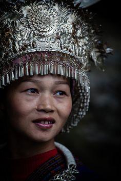 Langde Village : Long Skirt Miao, portraits #46