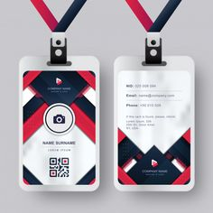 Business Cards Layout, Professional Business Card Design, Cool Business Cards, Identity Card Design, Name Card Design, Employee Id Card, Lanyard Designs, Id Card Template, Brand Manual