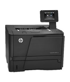 HP LaserJet Pro M401dw Printer .   The HP LaserJet Pro 400 is a well-featured printer that has strong specifications for use in the office. The M401dw model has excellent connectivity alongside an accessible (if unreponsive) touchscreen. Add good paper handling and excellent print quality and this makes for a capable model that does almost everything with aplomb.