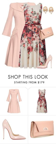 """outfit3759"" by natalyag ❤ liked on Polyvore featuring Alexander McQueen, Phase Eight, Christian Louboutin and Carolee"