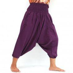 3/5 Aladinhose aus Baumwolle Sii Müang Violett