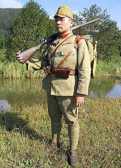 Japanese Imperial Army Ww2 | On his utility belt is a canvas and leather ammo pouch holding three ...