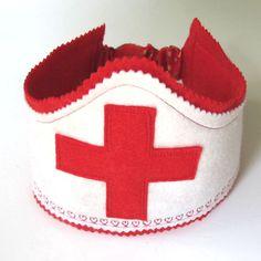 nurse crown, felt