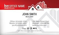 Keller WIlliams Business Card Template Design with Updated Logo.
