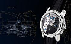 Titanium & Steel Black dial - Tempograph - Limited Editions - Louis Moinet