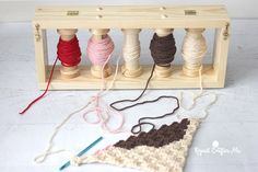 How to Use a Yarn Bobbin Holder on Repeat Crafter Me