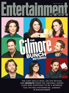 """""""Gilmore Girls"""" fans are already jazzed for the return of the beloved series, and now People and Entertainment weekly have paired up for a delightful chat with the cast. Mode Gilmore Girls, Gilmore Girls Cast, Gilmore Gilrs, Gilmore Girls Quotes, Lorelai Gilmore, Mark Sheppard, Entertainment Weekly, Jared Padalecki, Sam Winchester"""