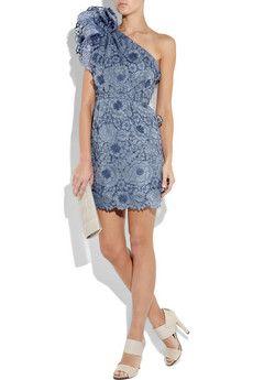 Stella McCartney One-shoulder appliqué dress