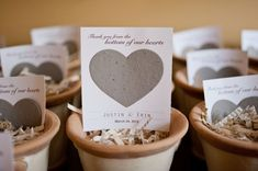seed packets for your guests! // photo by AzellePhotography.com // styled by MorganGalloEvents.com